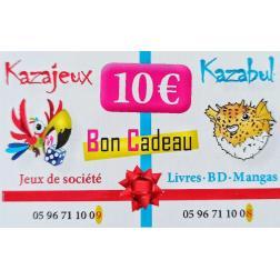 Carte cadeau -  Valeur 10€