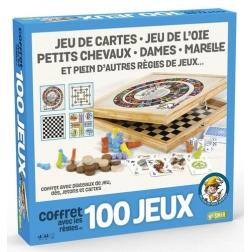 """Coffret 100 jeux """"Junior"""" en bois"""