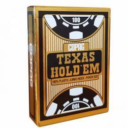 Copag Gold Jeu poker plastic jumbo 2 index Noir