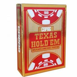 Copag Gold Jeu poker plastic jumbo 2 index Rouge