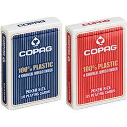 Copag jeu Poker plastic régular Rouge Jumbo