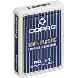 Copag jeu Poket plastic régular Bleu Jumbo