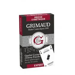 Jeux de 54 cartes Poker / Bridge Sysmétriques Grimaud Expert