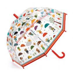 Parapluie : sous la pluie