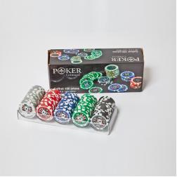 Poker coffret cristal : 100 jetons américains