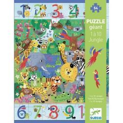Puzzle 1 à 10 Jungle 54 pièces