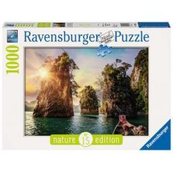 Puzzle 1000 pièces : Lac de Cheow Lan Thaïlande