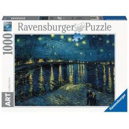 Puzzle -1000p Art : La Nuit Etoilée sur le Rhône