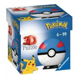 Puzzle 3D Pokémon Pokéball Superball 54 pièces