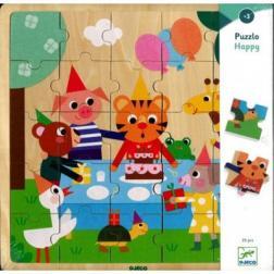 Puzzle bois : Puzzlo Happy