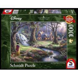 Puzzle Disney 1000 pcs - Blanche-Neige Découvre la Chaumière