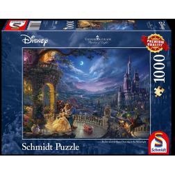 Puzzle Disney 1000 pcs - La Belle et la Bête : Danse au Clair de Lune