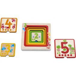 Puzzle en bois Amis des chiffres 5 pièces