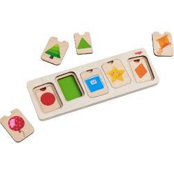 Puzzle en bois Formes & couleurs - 10 pièces