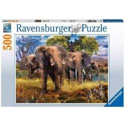 Puzzle Famille d'éléphants 500 pièces