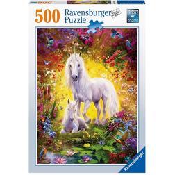 Puzzle Licorne avec poulain 500 pièces