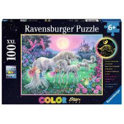Puzzle Licornes au clair de lune 100 pièces XXL