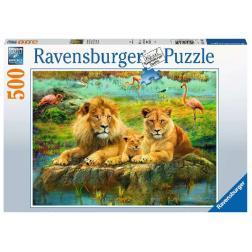 Puzzle Lions dans la savane 500 pièces