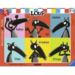 Puzzle Loup Emotion 40 pièces