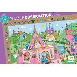 Puzzle Observation Princesses : 54 pièces