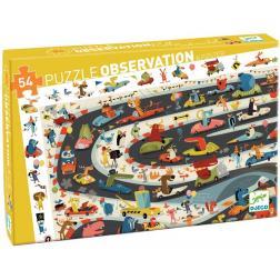 Puzzle Observation Rallye Automobile 54pièces