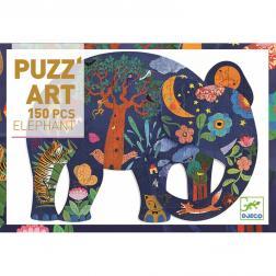 Puzzle : PUZZ'ART : Eléphant : 150 Pièces