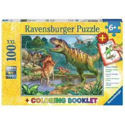 Puzzle Puzzle Monde des dinosaures 100 pièces XXL