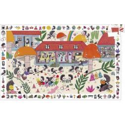 Puzzle : Puzzle observation 35 pièces : L'école des hérissons