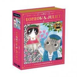 Puzzle Romeow & Juliet Bookish Cats 100 pièces
