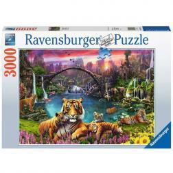 Puzzle Tigre dans un lagon paradisiaque 3000 pièce
