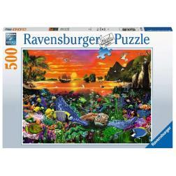 Puzzle Tortue dans le récif 500 pièces
