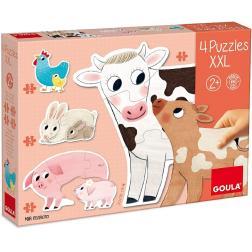 Puzzle XXL Mamans et bébés (4 puzzles)