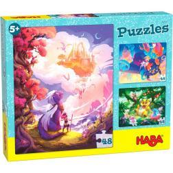 Puzzles Au pays fantastique 3 x 48 pièces