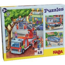 Puzzles Police, pompiers, ambulance 12/15/18 pièces
