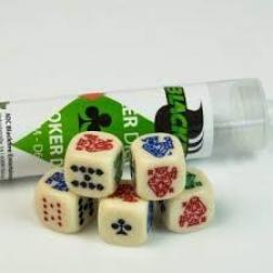 Set de dés : Dice 16 mm poker dice set (5 dice)