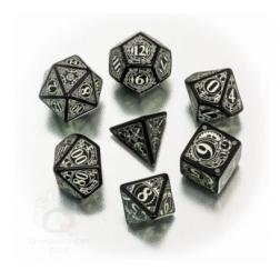 Set de dés : Steampunk Dice Set - Black & Glow
