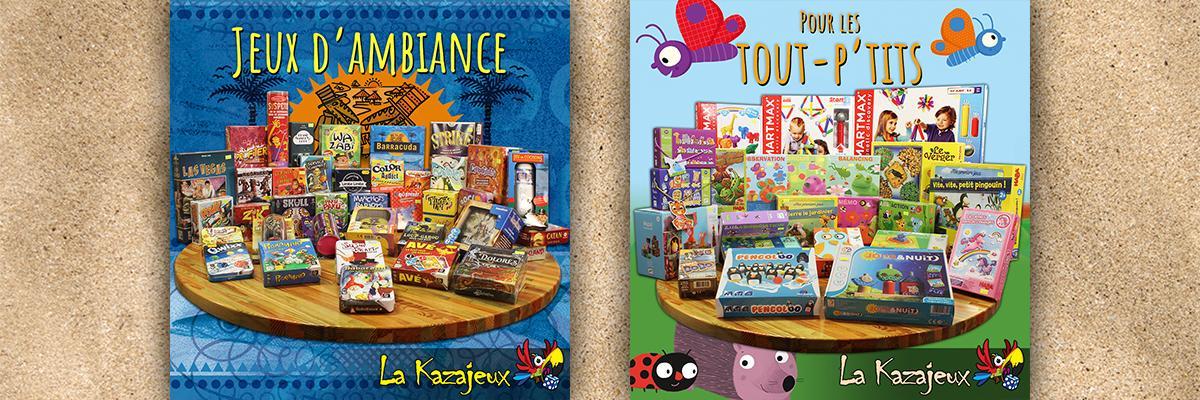 Des jeux d'ambiances et des jeux pour les plus jeunes
